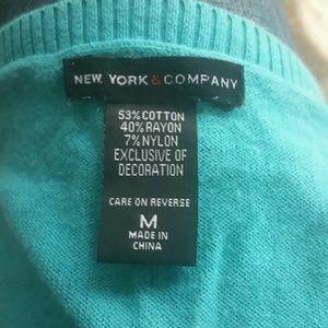 New York & Company Sweaters - 3/4 Length Sleeve Argyle Sweater